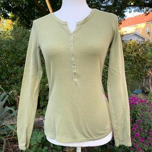 Life is Good Sage Green Henley Shirt